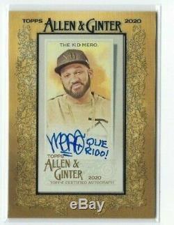 The Kid Mero 2020 Topps Allen & Ginter Framed Mini Autograph Auto Desus & Mero