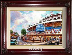 Thomas Kinkade Wrigley Field Memories and Dreams 18 x 27 S/N Canvas Baseball