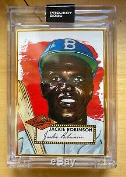 Topps PROJECT 2020 GOLD FRAME 1/1 Jackie Robinson by Blake Jamieson #42