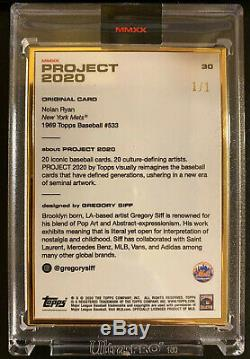 Topps PROJECT 2020 Nolan Ryan 1969 by Gregory Siff GOLD FRAME 1/1 Card #30 Mets