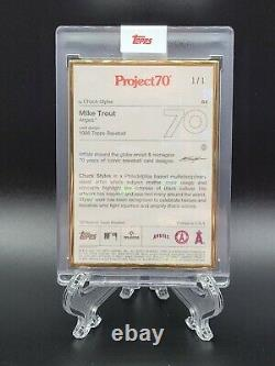 Topps PROJECT 70 Card 64 1995 Mike Trout by Chuck Styles GOLD FRAME 1/1