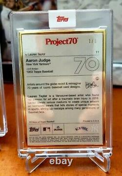 Topps Project70 Aaron Judge by Lauren Taylor 1/1 GOLD FRAME Project 70