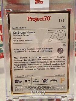 Topps Project70 Card 131 1988 KeBryan Hayes by Alex Pardee Gold Frame 1/1