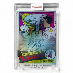 Topps Project70 Card 357 Mike Trout by Ermsy On-Card Auto # to 70