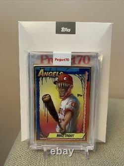 Topps Project70 Card 79 1990 Mike Trout by Alex Pardee Gold Frame 1/1