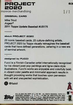 Topps Project 2020 63 Mike Trout by Fucci Gold Frame 1/1 2011 US175 @Fucci