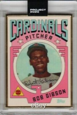 Topps Project 2020-#7 Bob Gibson 1959 Topps By Grotesk GOLD FRAME 1/1