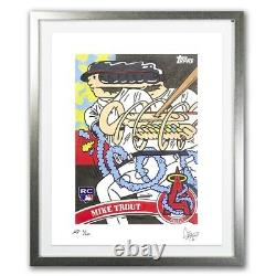 Topps Project 2020 Fine Art Print Mike Trout by Ermsy Silver Frame A. P. /20