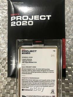 Topps Project 2020 Roberto Clemente 1955 #78 By OLDMANALAN GOLD FRAME 1/1 SSP