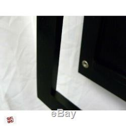 Trading Card Wall Display Case Graded Frame From Wood 50 Cards Baseball New