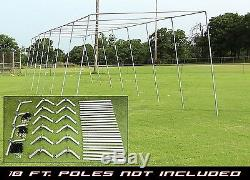 Trapezoid Batting Cage Frame Kit 12' x 12' x 70' Heavy Duty Baseball/Softball