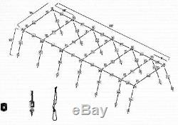 Trapezoid Batting Cage Frame Kit 12' x 14' x 55' Heavy Duty Baseball/Softball