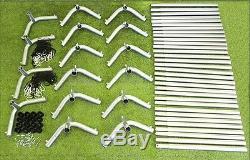 Trapezoid Batting Cage Frame Kit 12' x 14' x 70' Heavy Duty Baseball/Softball