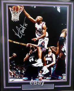 Vince Carter Autographed Signed Framed 16x20 Photo Raptors Beckett H44627