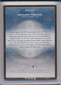 Wander Franco Auto Prospect 10/25 2020 Bowman Topps Transcendent GOLD Frame Rays