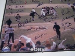 World Series Team Signed Framed 1969 Mets Ryan Seaver Agee Jones Koosman Garrett