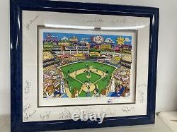 Yankee Fever By Charles Fazzino 3D FRAMED NYC Baseball AUTOGRAPHED AP /25 Art