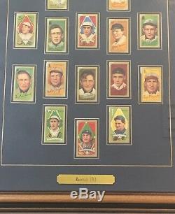 1911 T205 Or Frontière Ours Polaire Tabac Carte De Base-ball Ensemble Encadré 16 Cartes
