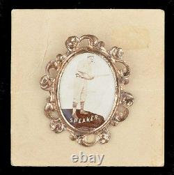 1915 Pm1 Ornate Frame Border Pin Pinback Tris Haut-parleur