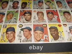 1954 Topps Si Carte De Baseball Uncut Sheet Professionnellement Emmêlés / Menthe Encadrée