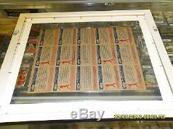 1959 Fleer Ted Williams Uncut Final De Production Feuille Jim Thorpe-custom Encadrée