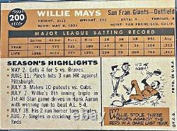 1960 Topps #200 Willie Mays San Francisco Giants Psa 5 Ex Hofer Sf Estate Trouver