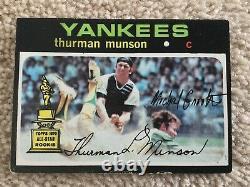 1971 Topps Thurman Munson Encadré Photo (33x26 +bonus!)