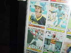 1979 Topps Carte De Baseball Uncut Cheet Ozzie Smith Rc Proff Framed +bonus Cheet