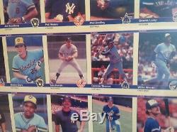 1984 Fleer Mise À Jour Complète Baseball Un Coupe-information- Encadrée Clemens Puckett-gooden