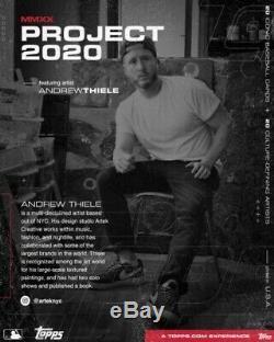 1/1 Cadre D'or 2020 1952 Projet Topps Willie Mays Carte De # 15 Par Andrew Thiele