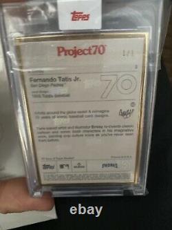 1 / 1 Topps Project 70 Card #2 Fernando Tatis Jr. Ermsy Gold Frame! Mvp