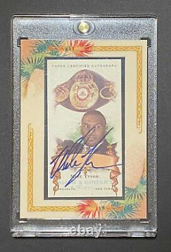 2006 Topps Allen & Ginter Mike Tyson Encadré Mini Autograph Auto Sp / 200 Boxe