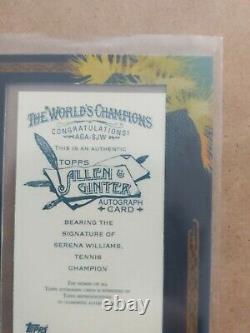 2008 Topps Allen & Ginter Encadré Serena Williams Autograph Blue Auto