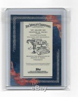 2011 Allen Et Ginter Topps George Bush Mini Framed Autograph Sp