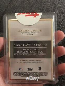 2017 Étiquette D'or Aaron Topps Juge Recrue Auto Scellé Rc Yankees Mint! Gold Frame