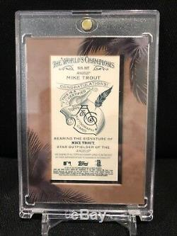 2018 Allen & Ginter Topps Mike Truite Auto Autograph Sp Framed Anges A & G