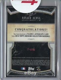 2018 Musée Collection Ronald Acuna Rc # 2/15 Framed Auto Case Hit Atlanta Braves