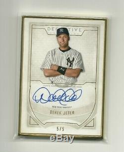2019 Définitif Derek Jeter Topps Encadrée D'or Sur Carte Autograph 5/5 Yankees #d
