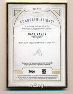 2019 Définitif Hank Aaron Topps Or Gold Ink Encadrée Sur La Carte Auto # 4/10