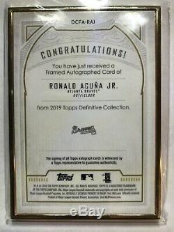 2019 Définitif Ronald Acuna Topps Jr Gold Frame Auto 21/30