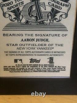2020 Allen & Ginter Topps Aaron Juge Black Framed Auto Ssp # 07/25 Yankees Rares