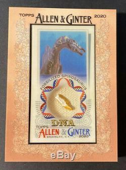 2020 Allen & Ginter Topps Fossilisée Spinosaurus Framed Mini Adn Relic 10/17 #d