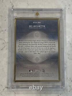 2020 Bowman Transcendant Bo Bichette Gold Framed Rc Auto 4/10 Toronto Blue Jays