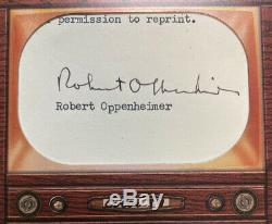 2020 Bowman Transcendant Robert Oppenheimer 1/1 Jumbo Framed Auto Cut Bomb Atom