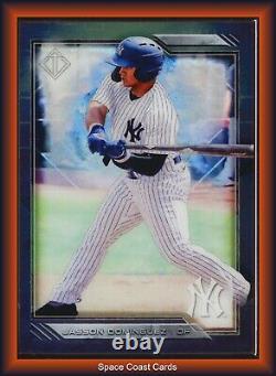 2020 Bowman Transcendent Framed Base 005/100 #14 Jasson Dominguez Yankees