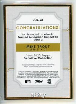 2020 Definitive Collection Encadrée Topps Autograph Mike Trout Auto / 10
