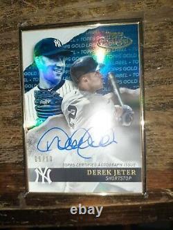 2020 Derek Jeter 9/10 Blue Gold Frame On Card Auto