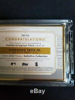 2020 Encadré Or Definitive Patch Topps Auto Fernando Tatis 15/15 (1/1) Padres