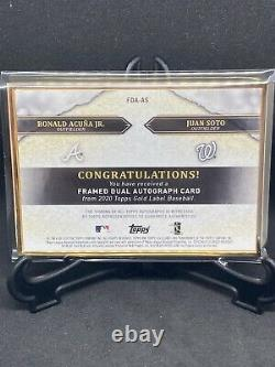 2020 Gold Label Or Topps Framed Double Auto Ronald Acuna Jr / Juan Soto / 5
