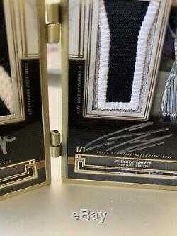 2020 Musée Aaron Topps Juge Torres Double Automatique Patch Gold Frame Livret 1/1